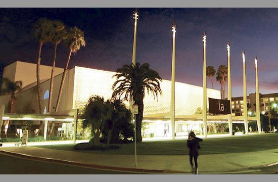 The Santa Monica Civic Auditorium at 1855 Main Street.