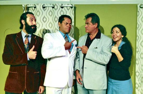 """The New Situation"" at Santa Monica's Promenade Playhouse stars Joshua M. Bott (from left)"