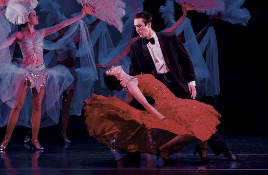 "Leila Drake and Jack Stewart as Yolanda and Frank Veloz in State Street Ballet of Santa Barbara's ""An American Tango."""