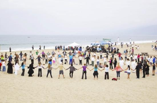 In celebration of International Peace Day and Heal the Bay's Coastal Clean Up Day