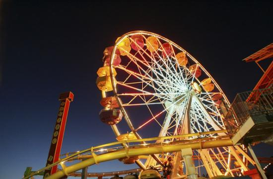 Pacific Park's Ferris wheel on the Santa Monica Pier.