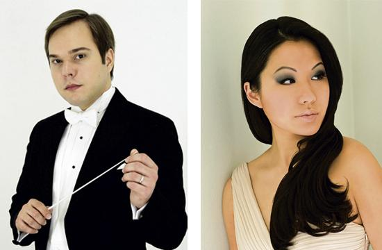 New West Symphony music director/conductor Marcelo Lehninger and guest violinist Sarah Chang.