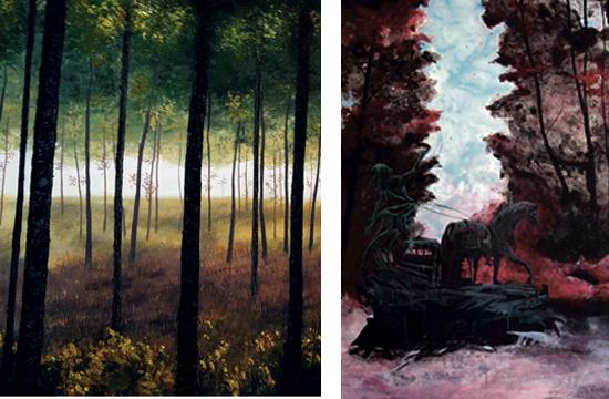 A selection of the paintings that will be on display at Tara Gallery through Nov. 14.