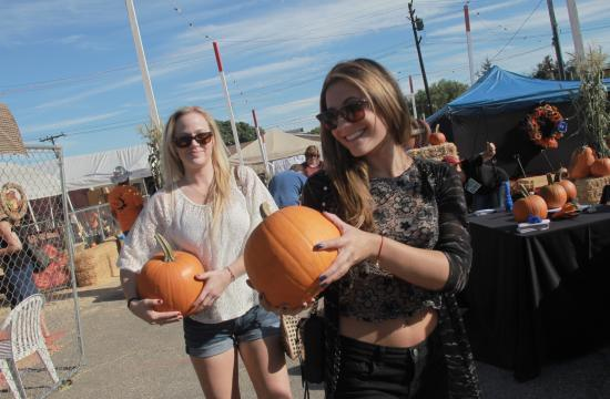 Free pumpkins were handed out to all attendees at the Fall Festival 2013 held October 6.