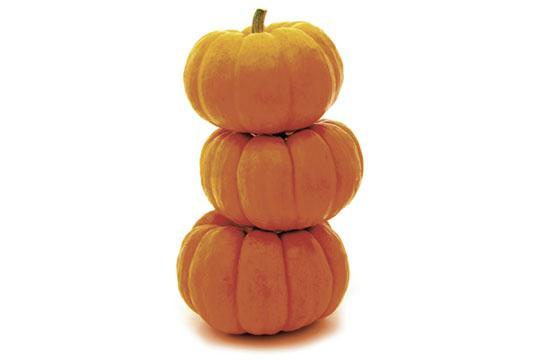 The bright orange flesh of pumpkins is loaded with beta-carotene
