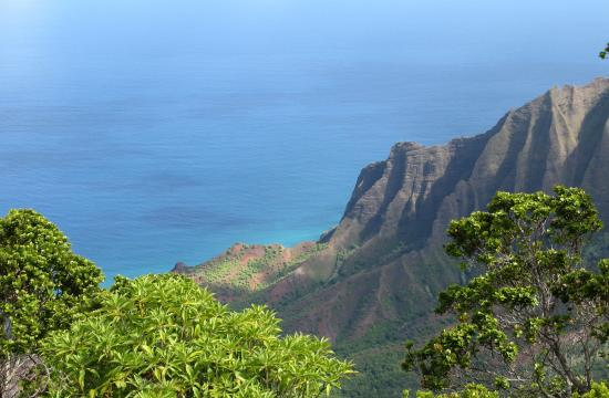 This view over the Kalalau Valley is just of many one feasts for the eyes on Kauai.