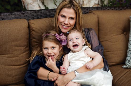 Santa Monica mom Amanda Daniels and her two daughters Olivia and Sophie. As a heart disease survivor