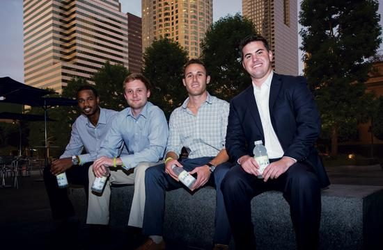 From left: Liquid I.V. partner Osas Obaiza and co-founders Hayden Fulstone