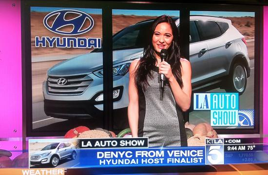 Vote for Denyc as KTLA's 'Hyundai Host' for a chance to win a brand new 2014 Hyundai Santa Fe Sport 2.0.