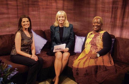 """Candid Conversations"" hosts Dena Diamond (from left)"
