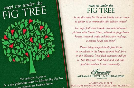 The Fairmont Mirmar will host a free family event Sunday to support the Westside Food Bank.