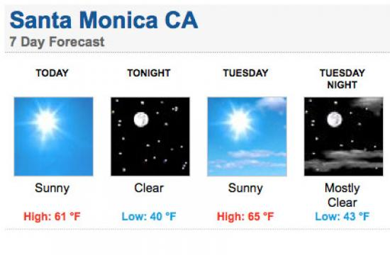 Cold temperatures and wind chill will continue in Santa Monica over the next few days.