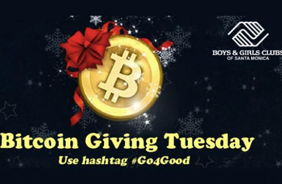 Use hashtag GO4Good and GoCoin will donate $10 per tweet and match Bitcoin donations up to $10