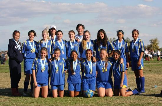 The Santa Monica AYSO Girls U16 soccer team.