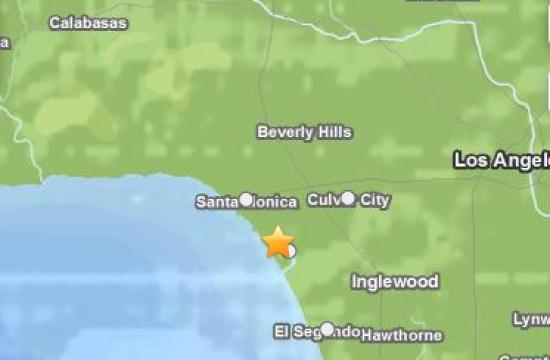 The 2.8 magnitude earthquake struck near Marina del Rey on Thursday morning.