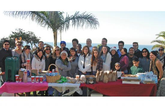 UCLA respiratory therapy team at last year's holiday picnic.