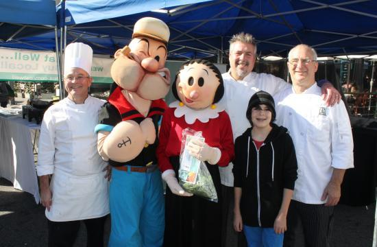Eat Well Week returns in 2014. Pictured at this year's launch at the Santa Monica Farmers Market were Ocean and Vine executive chef Keith Roberts (from left)