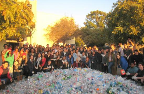 The recyclables collected by Santa Monica High School students.