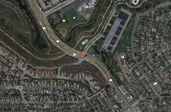 The hit-and-run occurred near the intersection of South Bluff Trail Road and Lincoln Boulevard in Westchester.