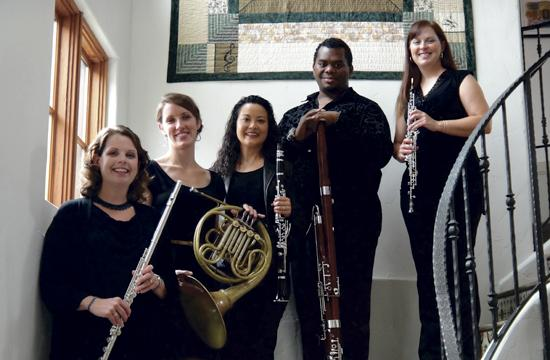 The Orchestra Santa Monica Woodwind Quintet will open the Fireside at the Miles program tonight. Pictured are Emily Senchuk (flute)