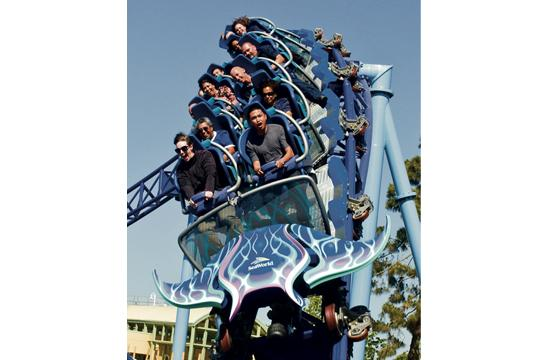 Manta is a double-launch coaster that features a marine-life habitat.