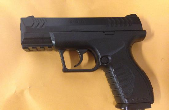 The replica gun that was recovered from the suspect in Malibu.