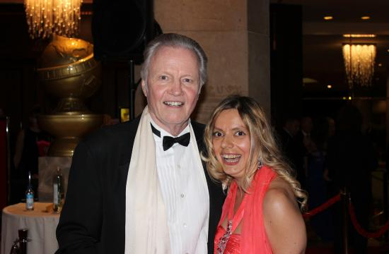 Jon Voight and Santa Monica's Marie Paquim at the 2014 Golden Globe Awards held in Beverly Hills.