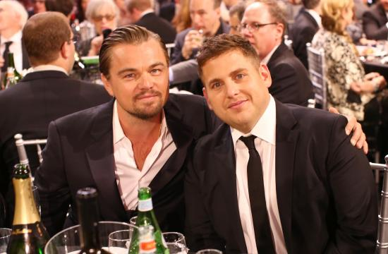 Leonardo DiCaprio and Jonah Hill at the Critics' Choice Movie Awards held in Santa Monica on Thursday
