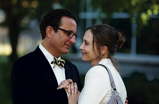 "Andy Garcia as George and Vera Farmiga as Edith in ""At Middleton."""