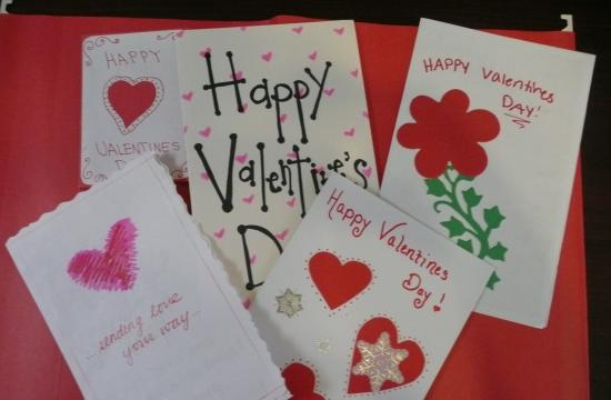 Some of the cards filled with personal loving messages from teens throughout the Los Angeles area.