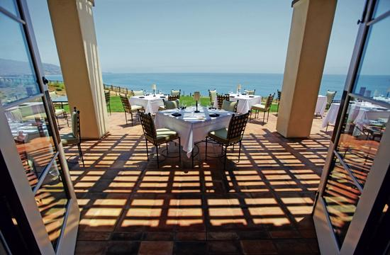 Terranea's signature restaurant mar'sel offers an inventive twist on California cuisine with seating indoors and out.