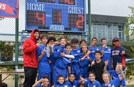 The Crossroads Middle School boys soccer team have something to cheer about.