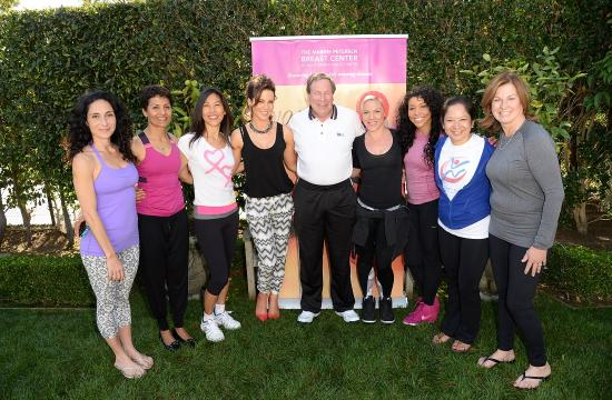 From left:  Mandy Ingber (Yoga Instructor for Fundraiser)