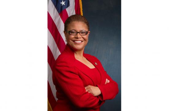 Karen Bass represents congressional district 37 that encompasses Mid City
