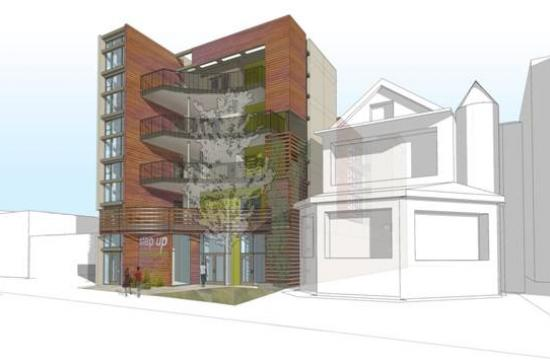 A rendering of the Step Up On Colorado coming to 520 Colorado Avenue in Santa Monica.