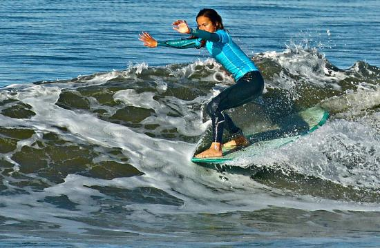 A surf competition will be held this Saturday and Sunday in Santa Monica with local surfers such as Chloe Kleinman.