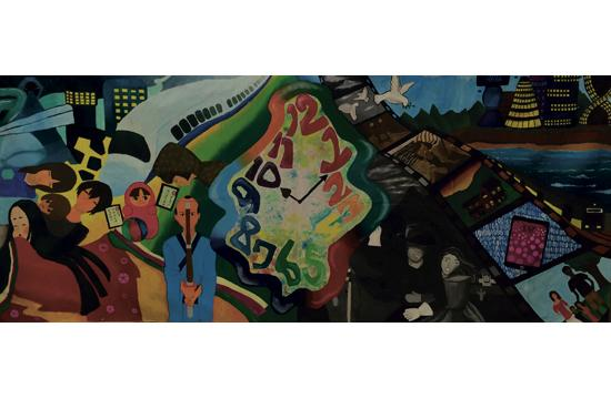 John Adams Middle School is currently one of only eight middle schools in the United States participating in the mural exchange.