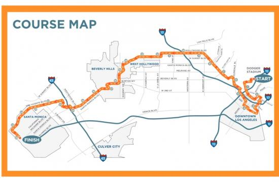 Click the image at the bottom of the article for a close-up view of the LA Marathon course.