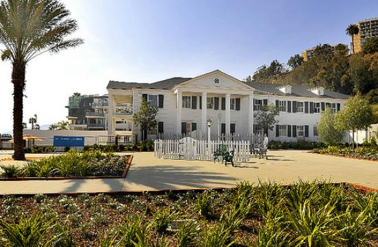 The Annenberg Community Beach House at Santa Monica State Beach is a public facility located on five acres of oceanfront property.