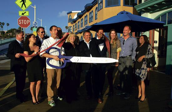 The Santa Monica Chamber of Commerce hosted a ribbon cutting ceremony on Wednesday for Ristorante Al Mare on the Santa Monica Pier.