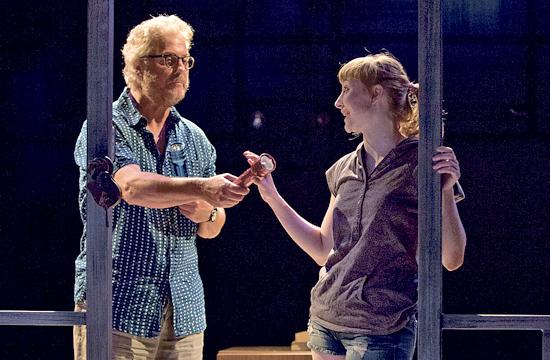 """William Petersen and Rae Gray star in the West Coast premiere of Greg Pierce's """"Slowgirl"""" on stage at The Geffen Playhouse."""