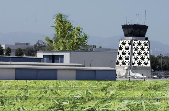 Santa Monica Airport will be renamed the Great Park of Marijuana after the City Council approved its 'Up In SMOke plan.'