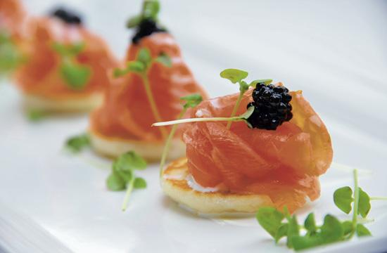 Café del Rey's house-cured salmon is one of the restaurant's creative presentations of the area's best seafood.