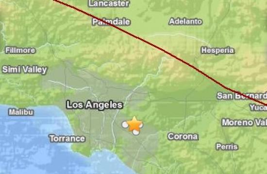 An earthquake struck near La Habra on Friday