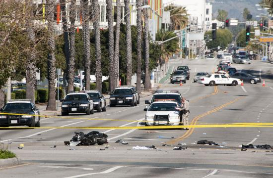 The accident occurred at the intersection of Pico and 4th in Santa Monica.