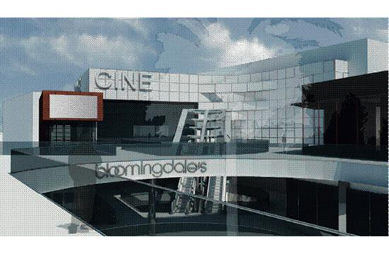 A rendering of the new ArcLight cinema complex proposed for the third floor of Santa Monica Place.