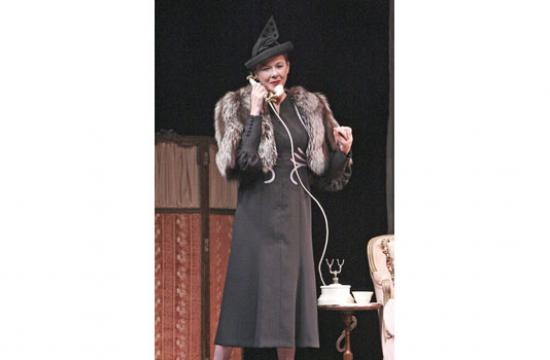 Annette Bening as one of the several characters she creates in 'Ruth Draper's Monologues' on stage at the Geffen Playhouse.