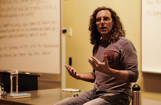Filmmaker Tom Shadyac engaged in deep conversations with Santa Monica College students about his experience