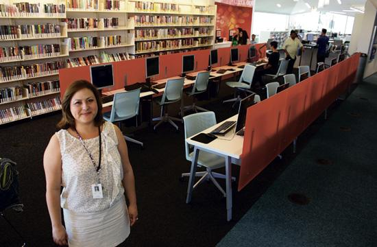 Pico Branch Library branch manager Cecilia Tovar said the first week of opening has been extremely busy