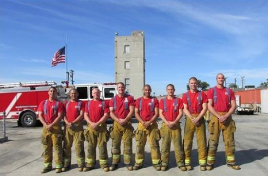 Santa Monica firefighter graduates (from left): Jeff Cusick